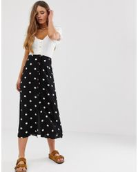 f1574ebe0d Missguided Peace + Love White Ruched Midi Skirt in White - Lyst