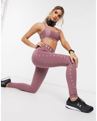 Under Armour Training Favourite Side Logo leggings - Pink