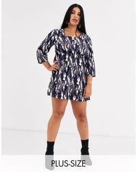 AX Paris - Платье С Квадратным Вырезом И Камуфляжным Принтом -мульти - Lyst