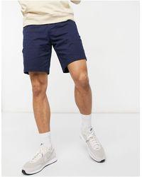 Lacoste Regular Fit Cotton Gabardine Bermuda Shorts - Blue