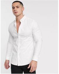 New Look Camicia Oxford attillata bianca - Bianco
