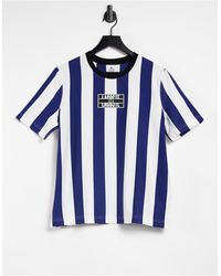 Lacoste Vertical Stripe Long-sleeved T-shirt - Blue