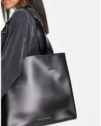 French Connection Maxi borsa nera strutturata - Nero