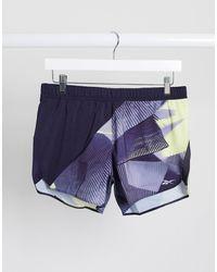 Reebok Шорты С Принтом Running-фиолетовый - Пурпурный