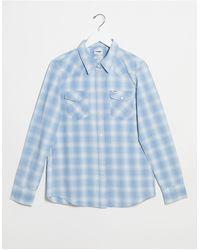 Wrangler Western Check Shirt - Blue