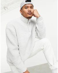 ASOS Oversized Half Zip Sweatshirt - Grey
