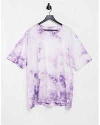 American Eagle Camiseta violeta holgada con efecto tie dye - Morado