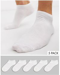 New Look Белые Спортивные Носки -белый