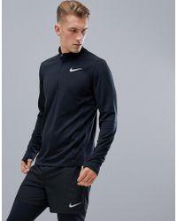 Nike - Pacer Half Zip Sweat In Black 928411-010 - Lyst