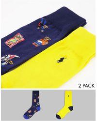 Polo Ralph Lauren – 2er-Pack Socken - Mehrfarbig
