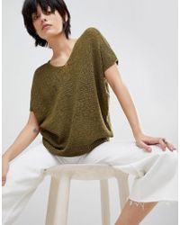 Paisie - Loose Knit V-neck Top - Lyst