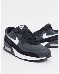 Nike Черно-серые Кроссовки Air Max 90 Recraft-черный