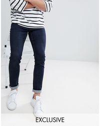 Noak Noak Skinny Jeans In Raw Blue