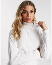 Columbia Glacial - Fleece Sweatshirt Met Halve Rits - Wit