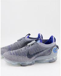 Nike Кроссовки Серого/темно-обсидианового Цвета Air Vapormax 2020 Flyknit-серый
