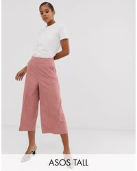 ASOS Asos Design Tall Tailored Clean Culottes - Pink