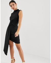 ASOS - Twist Front Mini Dress - Lyst