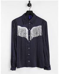 Résumé Resume Western Talli Shirt - Blue