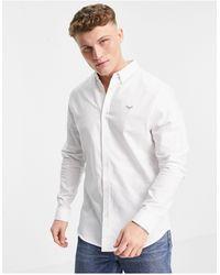 Threadbare Long Sleeve Oxford Shirt - White