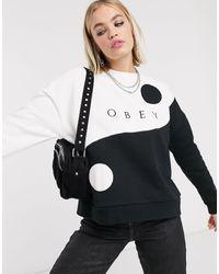 Obey Sweatshirt Met Yin-yang-ontwerp En Logo - Meerkleurig