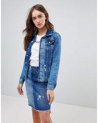 Pepe Jeans - Patches Raw Hem Denim Jacket - Lyst