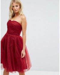 Hell Bunny - Bandeau Tulle Dress - Lyst