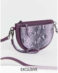 NA-KD Сиреневый Клатч Со Змеиным Принтом -фиолетовый - Многоцветный