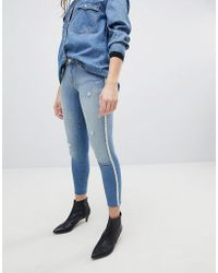 ONLY - Skinny Jean With Pearl Embellishment - Lyst