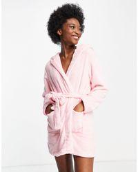 Brave Soul - Розовый Флисовый Халат С Заячьими Ушками -розовый Цвет - Lyst