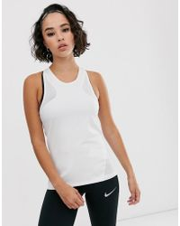 Nike Tank With Mesh In White