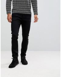 Nudie Jeans - Co Tilted Tor Skinny Fit Jean Dry Cold Black - Lyst