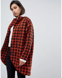 Y.A.S - Dogtooth Oversized Coat - Lyst