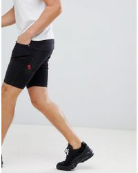 11 Degrees - Skinny Denim Shorts In Washed Black - Lyst