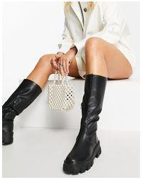 Public Desire Karma Knee Boots - Black