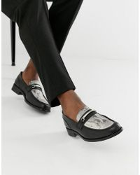 ASOS - Chunky Sole Loafer In Black Leather With Snaffle - Lyst