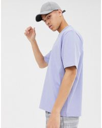 ASOS - Loose Fit Heavyweight T-shirt In Lilac - Lyst