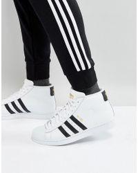 Pro Model Mid Sneakers In White S85956