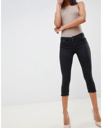 ASOS - Whitby Low Rise Skinny Jeans In Capri Length In Washed Black - Lyst