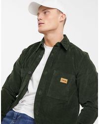 Calvin Klein – Workwear-Hemd aus Cord - Grün