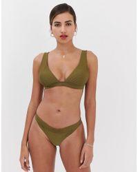 Y.A.S Textured Bikini Top - Green