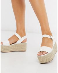 Miss Selfridge Flatform Sandals - White