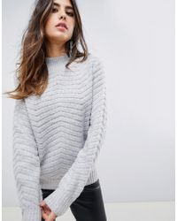 Y.A.S - Textured Knitted High Neck Jumper - Lyst