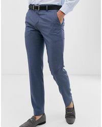 Tommy Hilfiger Pantalon de costume slim uni - Bleu