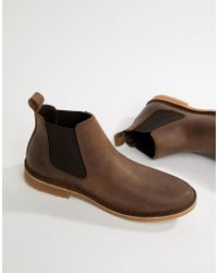 Jack & Jones - Leather Chelsea Boots - Lyst