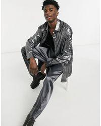 ASOS Overhemd Met Oversized Pasvorm - Metallic