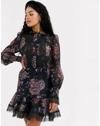Keepsake Button Through Mini Dress - Black