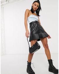 Motel - Top a fascette con allacciatura sul retro e dettagli a corsetto - Lyst