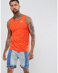 Nike - Washed Vest In Red Ah3930-634 - Lyst