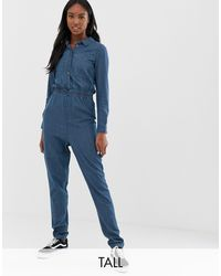 Noisy May Denim Boiler Suit-blue