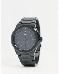 Tommy Hilfiger – Uhr mit schwarzem Armband
